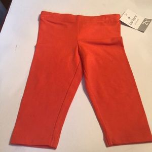 Orange Carter's leggings